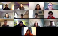A freshman biology class at UPrep met in a Zoom classroom while working from home. As the Upper School transitioned to distance learning, students and faculty leaned heavily on technology.